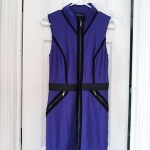Bebe purple zip dress